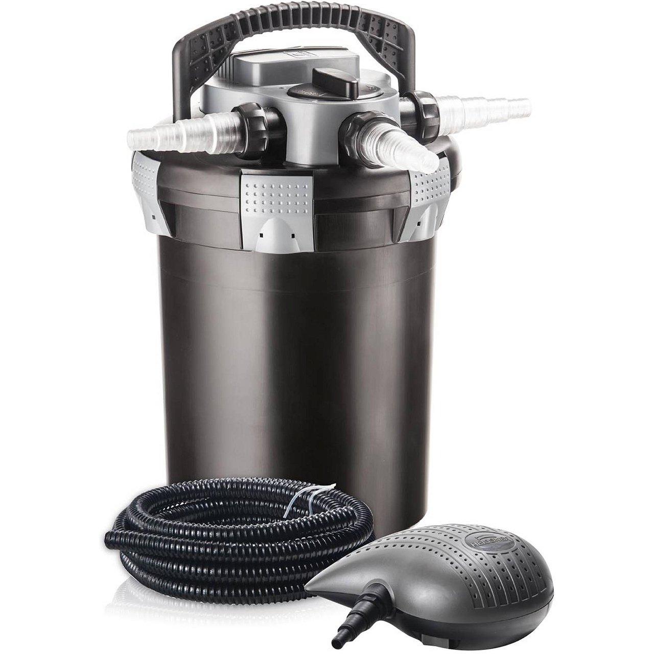Druckfiltert-Set mit Pumpe + UVC 9W