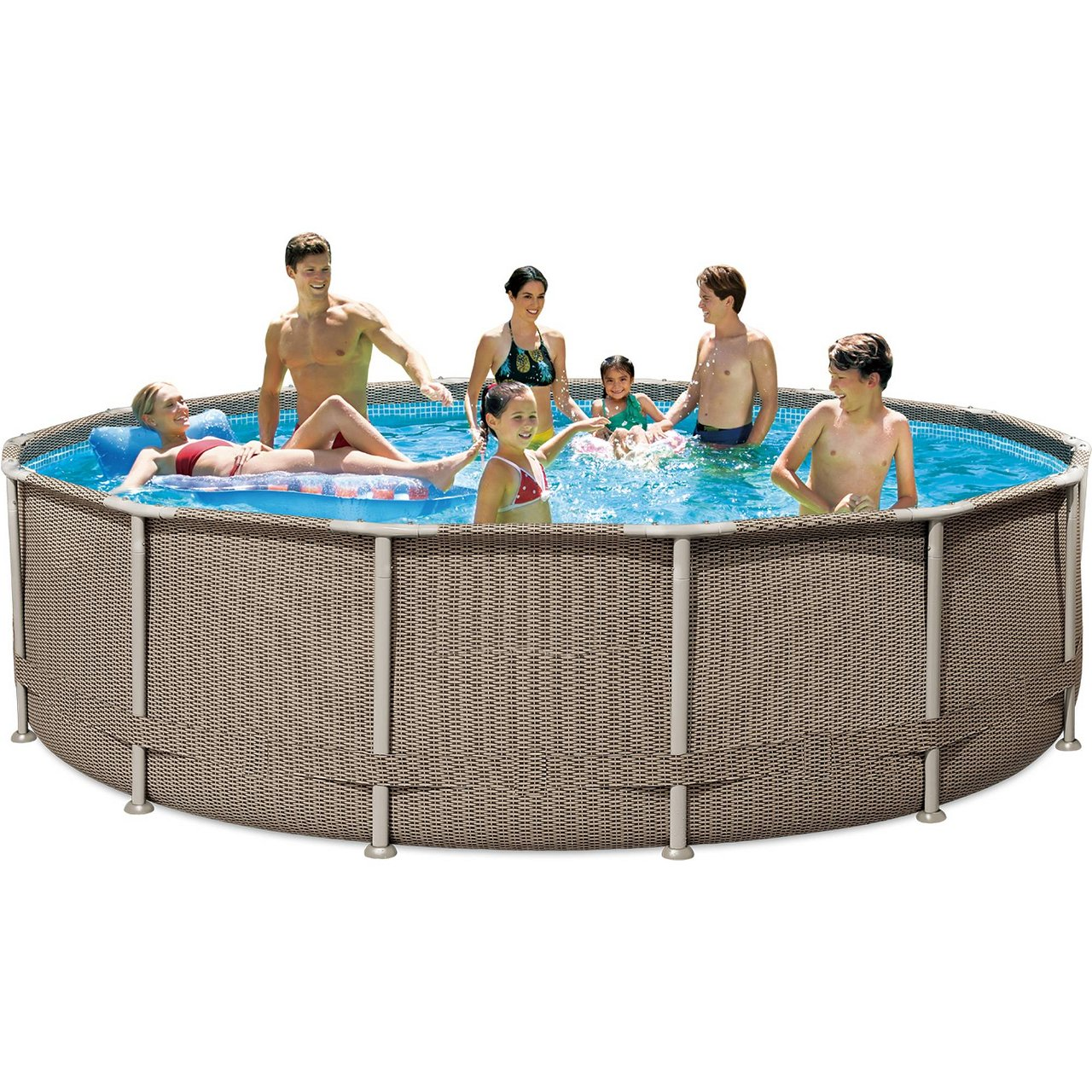 Frame Pool Rattan Braun 427 x 107 cm