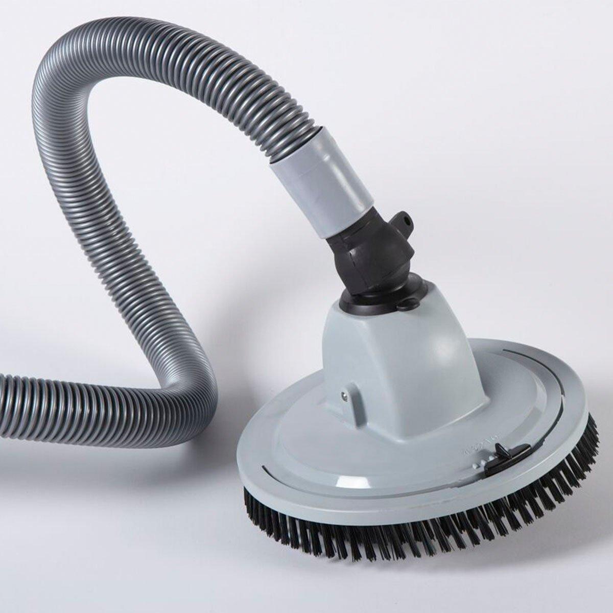 Automatischer Bodensauger weiß, mit ca. 10m Schlauch und Zubehör, ab Filterleistung 5,5m³/h