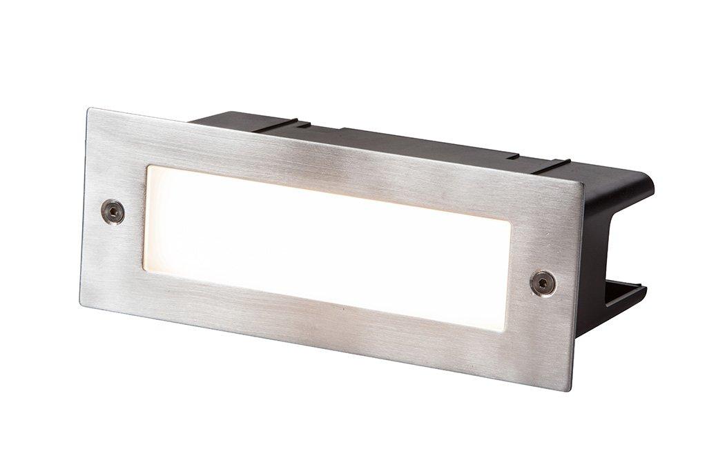 Heissner L484-00 SMART LIGHT Wand- und Boden-Einbauleuchte, 4W, Warmweiss, 85x225mm