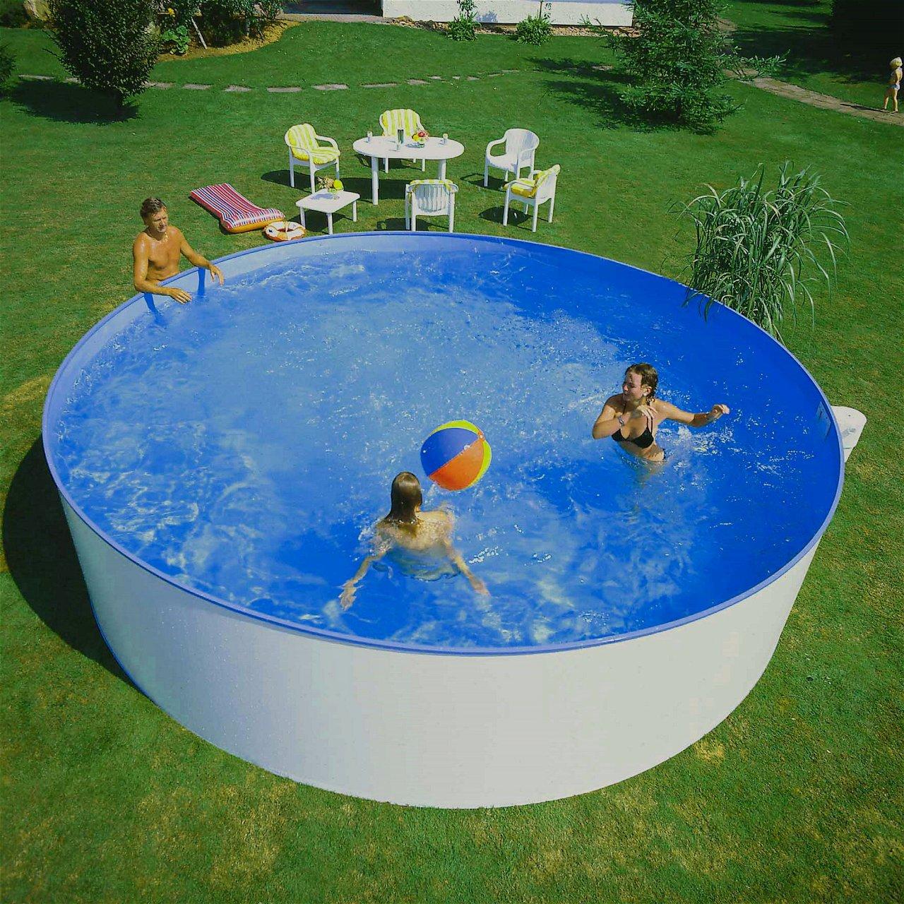 Rundbecken 400x110cm von Planet Pool - Innenhülle sandfarben