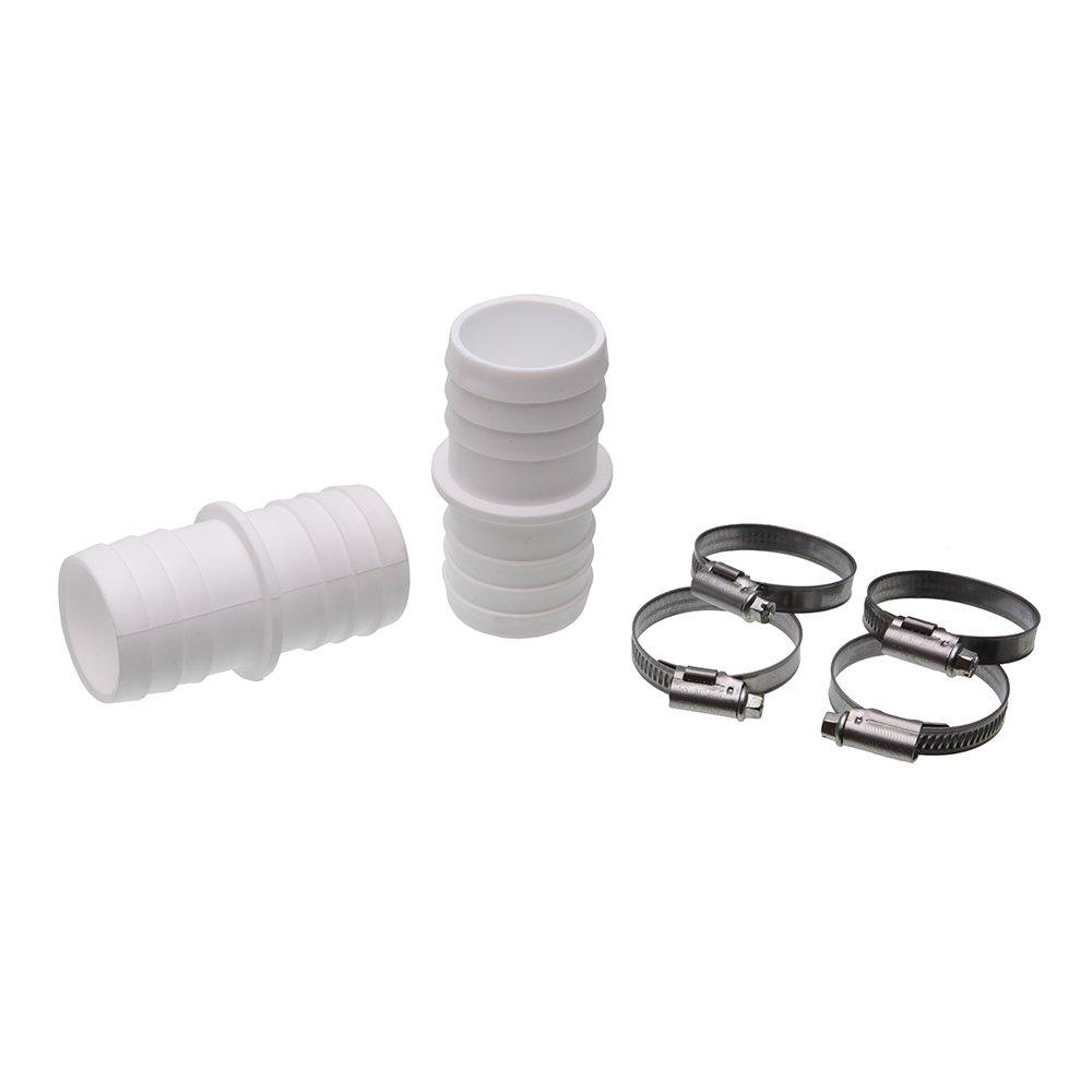Schlauchverbinder Ø 32mm auf 38mm, 2 er Pack inkl. Schlauchklemmen 2x Tüllen 38/32 mm, + 4 Schellen