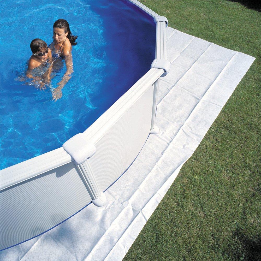 Extra Bodenschutzvlies für Oval/Achtformbecken  725 x 460 cm
