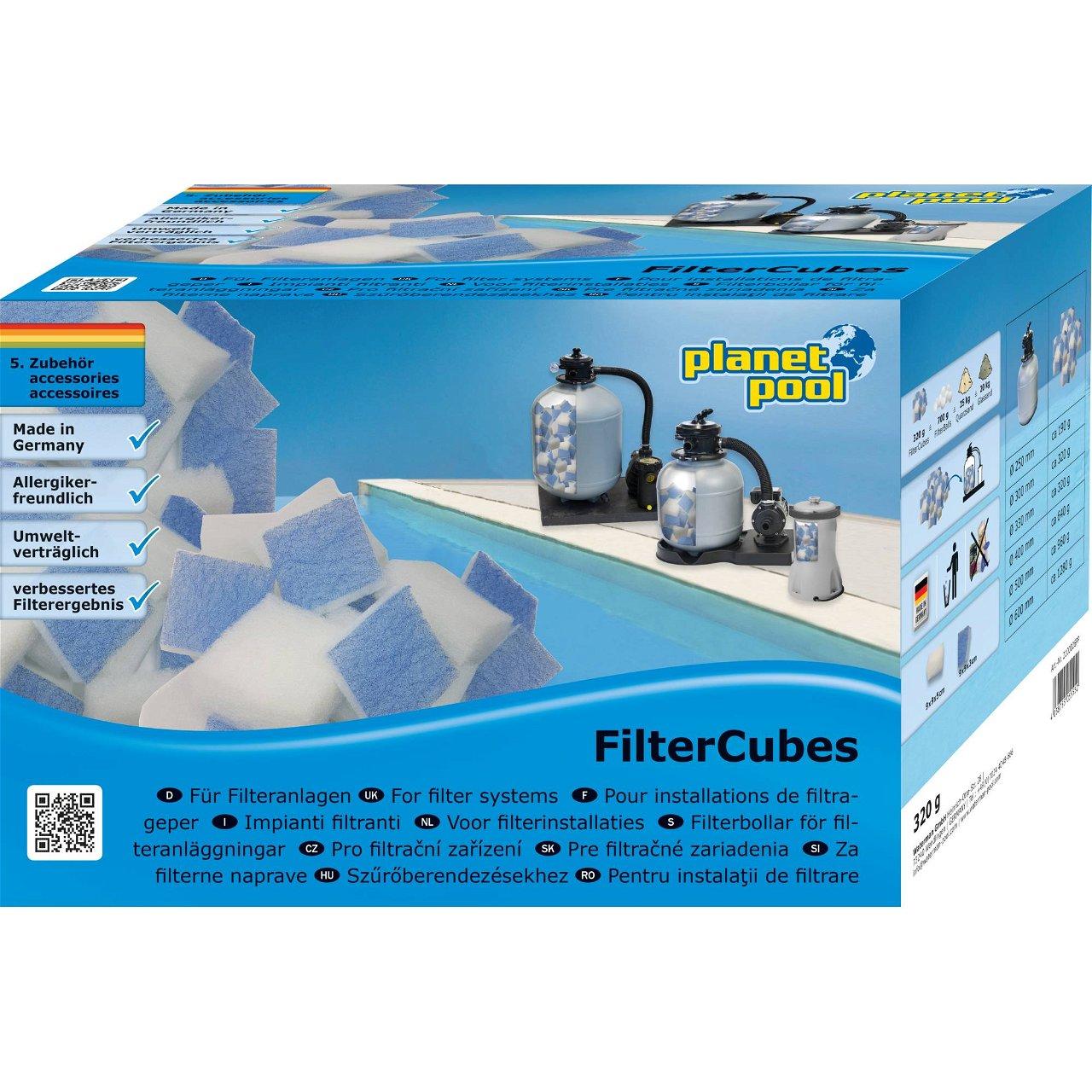 Filtercubes 320g, Planet Pool
