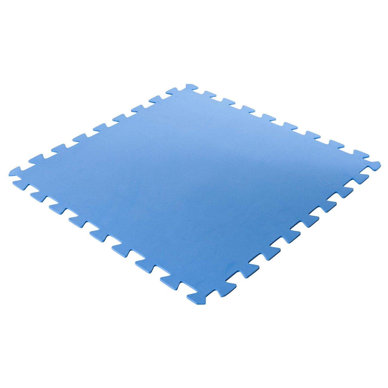 Bodenschutzmatten, blau, 500x500x4mm (8 Stück im Set = 2qm)