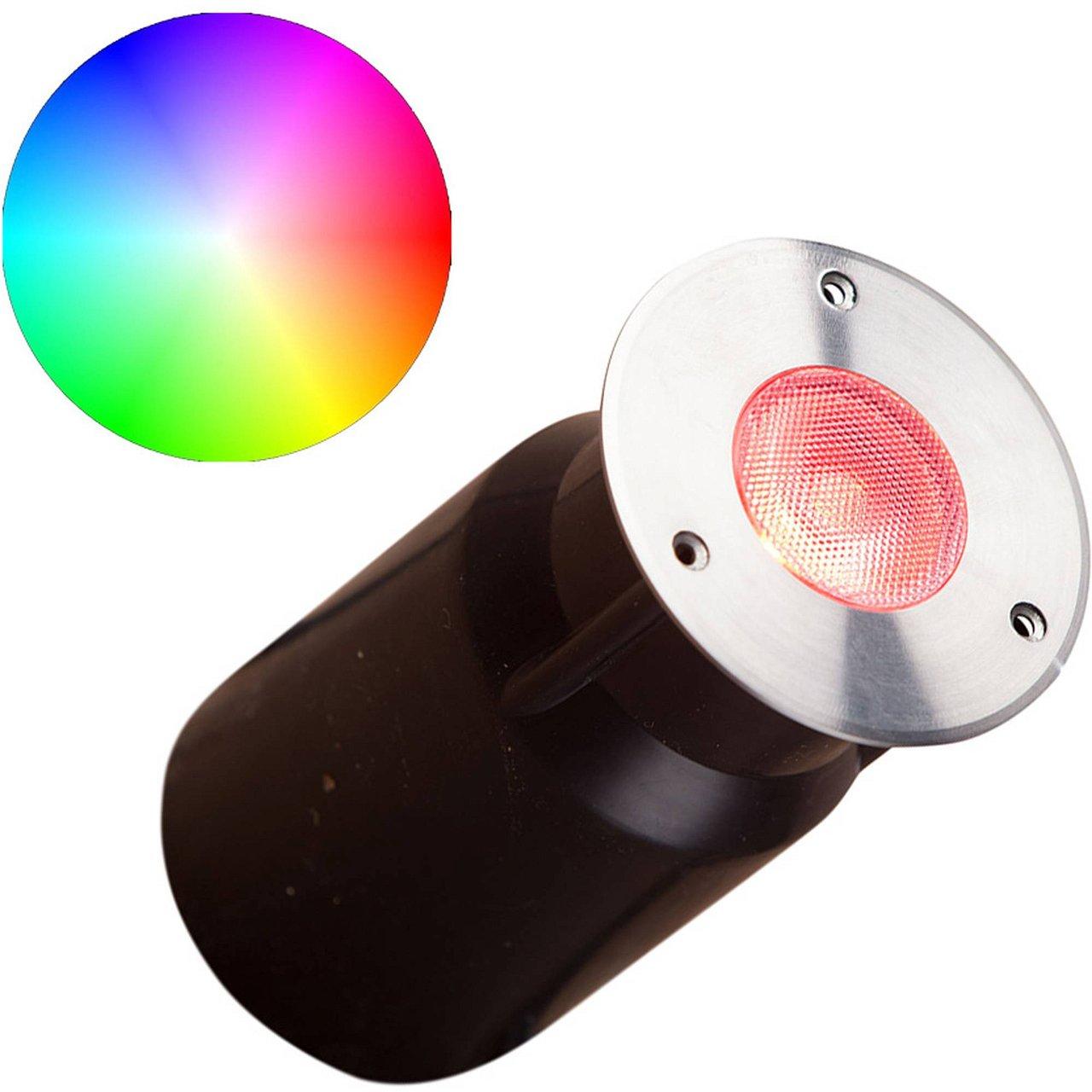 Heissner L463-00 Smart Light RGB Bodeneinbau Spot und Decklight 1 Watt silber
