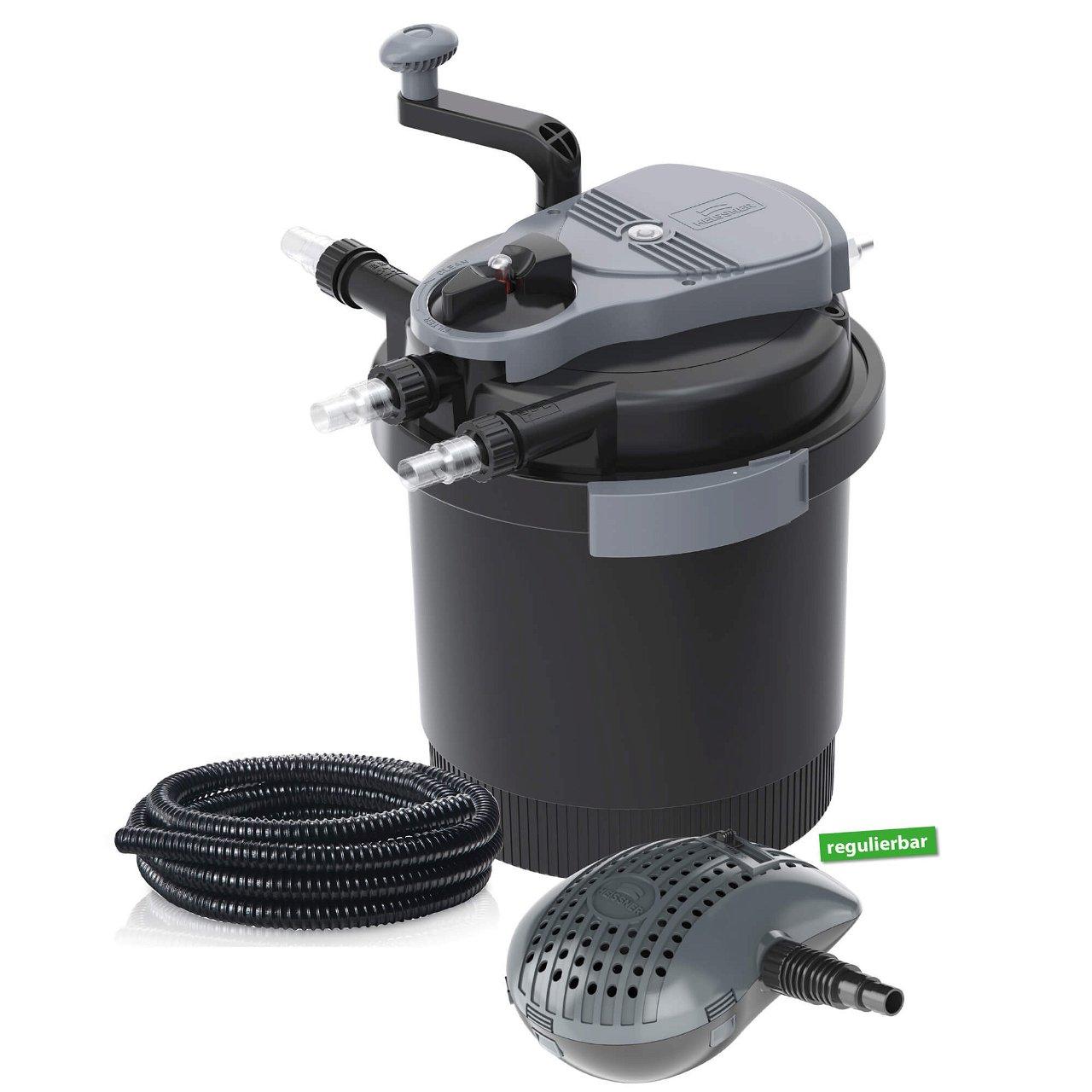 Heissner Druchfilter Set HLF4000-00 inkl. 7 Watt UV-C Teichklärer