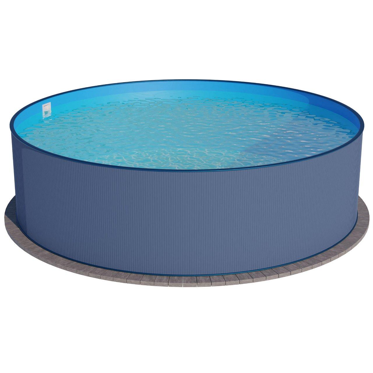 Stahlwandpool rundform anthrazit 300x120 cm, Einhängebiese