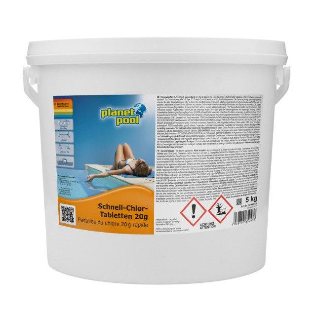 PLANET POOL Schnell-Chlor-Tabletten 20 g, 5 kg